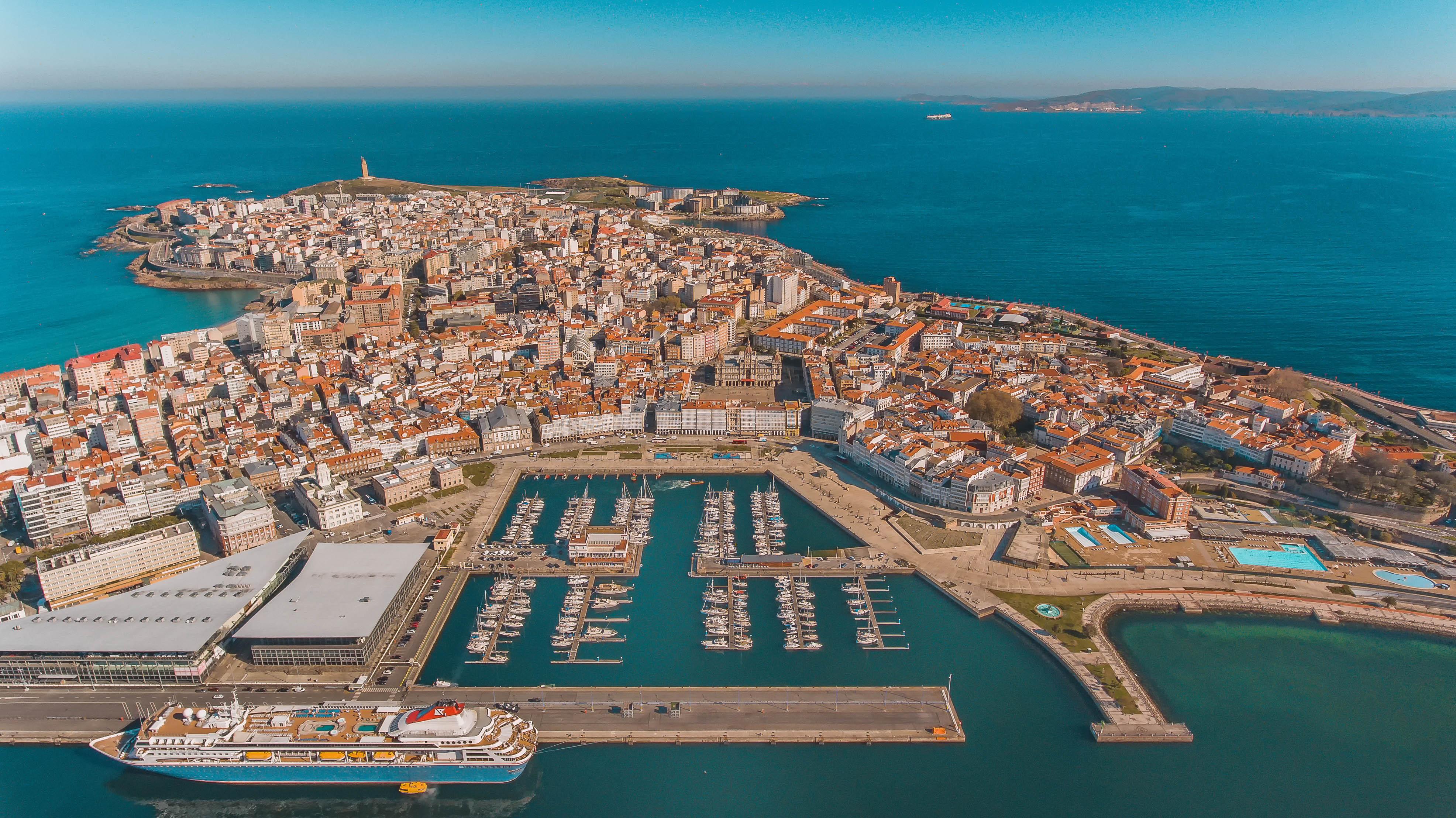 A Coruña Paisaje Península Drone